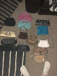 An assortment of handbags
