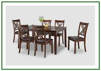 Espresso Dining Table and Chairs 43 mi