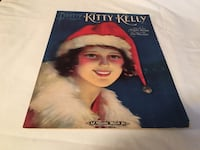 "1920 "" Pretty Kitty Kelly ""Sheet Music ""/Christmas Cover/A.J.Stasny Music Company Fredonia, 14063"