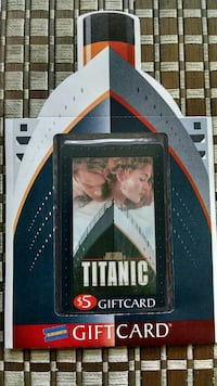 Titanic Gift Card Collectable.