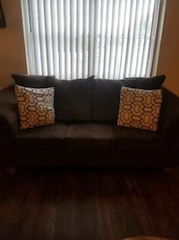 $600 Living room set Brown Suede  **negotiable**  $500 without tables