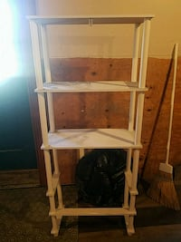 white wooden 3-layer rack Sterling Heights, 48312