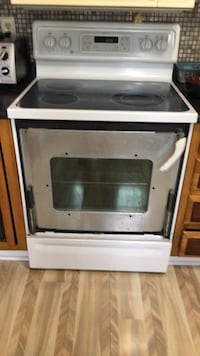 white and black induction range oven Rochester, 14616