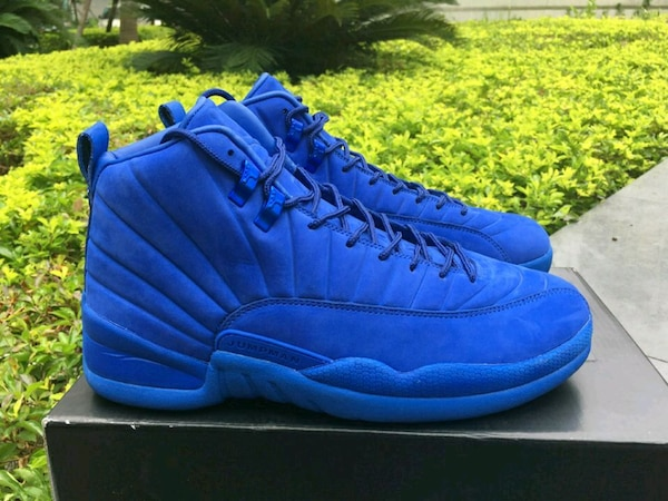 reputable site 9fc57 dd8be Jordan 12 Deep Royal Blue Suede