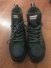 Olive Green Hunter Boots Alexandria