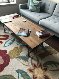 Custom coffee table with steel pipe frame in great condition Mc Lean, 22102