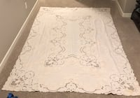 Hand Embroidered Tablecloth & Napkins