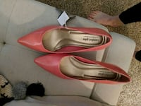 pair of pink leather flats Wenatchee, 98801