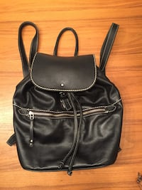 Roots black leather backpack Mississauga, L5G 3P5