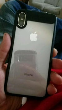 silver iPhone 7 plus with case
