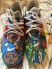 Custom made Nike reacts size 13 Rick and Morty and family guy edition