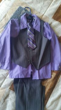 men's black button up vest , purple dress shirt, b Notre-Dame-du-Mont-Carmel, G0X 3J0