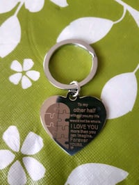 Valentine keychain- To my other half Whitby, L1P 1A8
