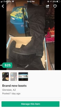 black suede chunky heeled boots Glendale, 85305