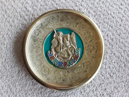 Saint George brass plate
