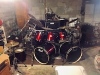 Pearl export custom set with cymbals hardware less the paiste 2000 Dover, 19901