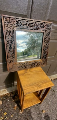 --CARVED WOODEN FRAMED MIRROR--   Sioux Falls, 57103
