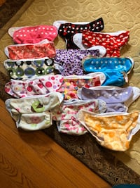 13 Cloth Diapers (Alva Baby & Happy Flute) Burke, 22015