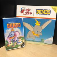 Disney's Dumbo VHS (Case Only) & Laserdisc Combo Great Condition