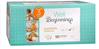 Well beginning size 3 diapers