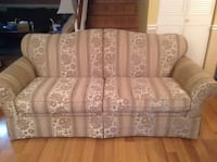 beige and gray floral fabric loveseat Palm Springs, 33461