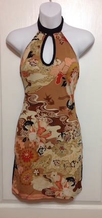 Brown Print Bodycon Dress | Size XXS Toronto, M6G