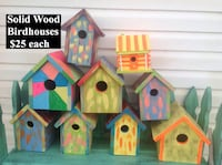 three assorted color wooden bird house Hopkinsville, 42240