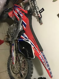 red Honda CRF dir bike
