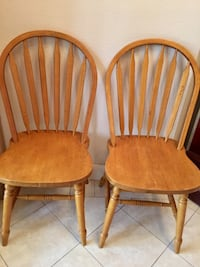 two brown wooden windsor chairs Mission, 78574