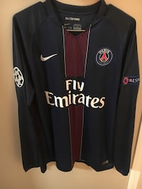 PSG long sleeve soccer jersey (#10 Ibrahimovic) With UCL patches Winnipeg, R3T 3H2