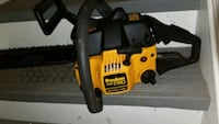 yellow and black poulan chainsaw