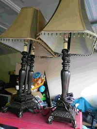 black and gray table lamp Converse, 78109