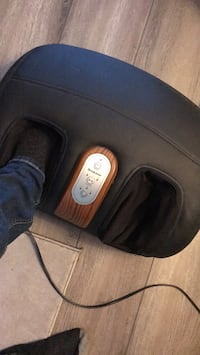 Black and brown leather brook stone foot massager. 2years old never used. Works great.  Hamilton, L8W 1R1