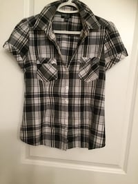 black and white plaid button-up shirt Edmonton, T6T 0H3