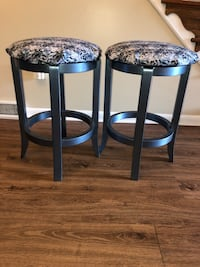 Twin Hand Painted Stools New Castle, 19720