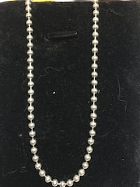 "Sterling Silver Bead Ball Chain 15.5"" Springwater, L0L 1X0"