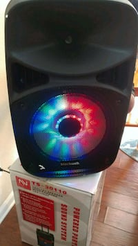 black and red speaker with box Mint Hill