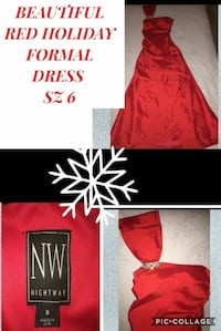 BEAUTIFUL FORMAL RED HOLIDAY DRESS SZ 6