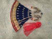 brown, red, and blue traditional dress Kukma, 370105