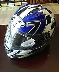white, blue, and black hjc motorcycle helmet Kissimmee, 34744