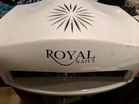Royal gel nail light in box and extras