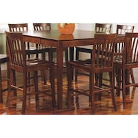 101038wln Coaster Furniture Pine - Walnut Counter Height Table - Walnut ( Five Piece Set) New in the boxes Missouri City