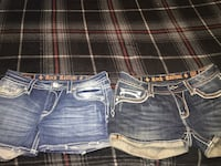 Blue and white denim rock revival shorts  Mesa, 85208