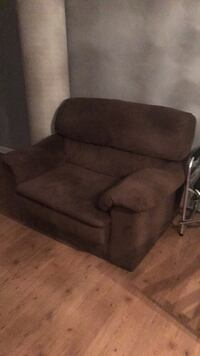 brown suede recliner sofa chair 60 km
