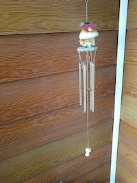 brass hanging wind chimes