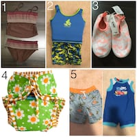 Kids/baby swimsuits, rash guard, water shoes, and swim diaper Vancouver, V5V