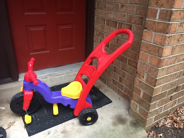 purple yellow and red trike