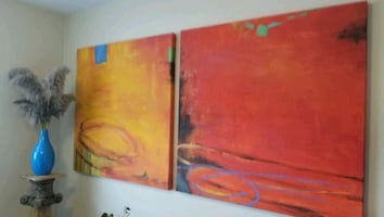 (3) Large Oil Paintings