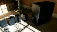 Sony Speakers (4 small with one large)