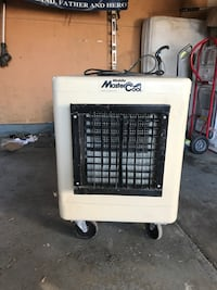 White and black swamp cooler